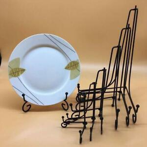 4-12Inch Lagerung Rack Platte Steht Kunst Eisen Display A9G3