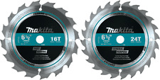 "Makita T-01426 2 Pc 6‑1/2"" Carbide‑Tipped Circular Saw Blade Set"