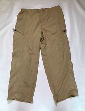 Patagonia Belted Hiking Camp Outdoor Nylon Pants Men's Large Color Khaki