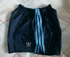Adidas Glanz Nylon Shorts Sprinter Running Shiny Vintage Fußball Sporthose D7
