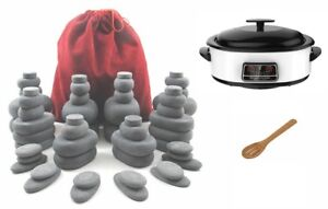 MassageMaster HOT STONE MASSAGE KIT: 54 Basalt Stones + 6 Litre Digital Hot Ston