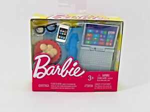 Barbie Tech Accessory Pack - Phone Cookies Glasses Water Bottle Laptop VHTF!!