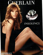 PUBLICITE ADVERTISING 046  2008  Guerlain  parfum Insolence femme Hilary Swank