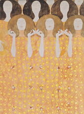 Gustav Klimt Choir of Paradise Angels Giclee Canvas Print Paintings Poster Repro