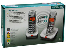 AUDIOLINE BigTel 202 schnurloses Großtastentelefon mit zwei Mobilteilen NQ171 C