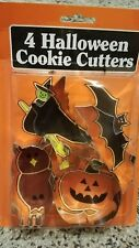 Fox Run Craftsmen Vintage Halloween Cookie Cutters Bat Witch Owl Pumpkin NEW