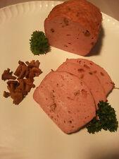 (14,98€/kg)1 Kg Wildschwein Fleischkäse m. Pfifferlingen, gebacken, Wildfleisch