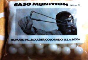 """TRUMARK SLINGSHOT WHITE MARBLE 1/2""""  AMMO SA50 Approx 75 New in Bag & SLINGSHOT"""