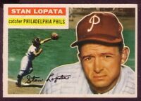 1956 TOPPS STAN LOPATA CARD NO:183 GRAY NEAR MINT CONDITION