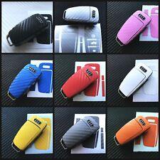 Audi Flip Key Carbon Fiber Black Wrap Fob Keyring Sticker A1 A3 A4 A5 A6 TT S Q