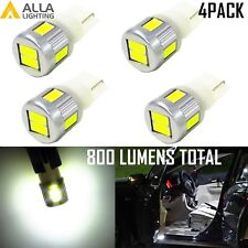 4x 192 194 168 LED License Plate/Side Marker/Interior/Glove/Courtesy Light Bulb