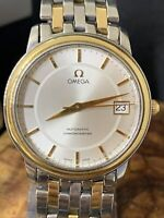 Mens Omega Seamaster 18K Gold & SS Automatic Chronometer watch #2104
