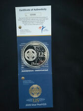 2009 Ireland €15 Silver Proof Coin 125 Years of GAA Proof Coin with COA
