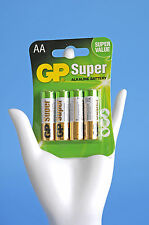 GP Super Battterie Alkaline Battery AA Mignon LR6 Power Batterien 4er Pack b31v