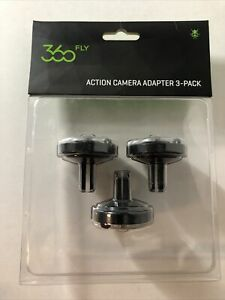 360 FLY HD Camera NEW in Package Action Camera Adapter 3 Pack 3 Prong Twist