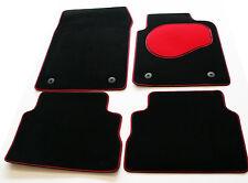 Chrysler Grand Voyager 08> Tailored Black Carpet Car Mats - Red Trim & Heel Pad