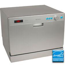Portable Countertop Dishwasher - EdgeStar Compact Apartment Dish Washing Machine