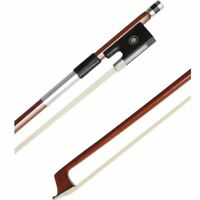 Professional 4/4 Brazilwood Ebony Frog Violin Arbor White Horsehair Violin Bow