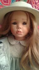 "VIVI ANN by Christel Florchinger. Very Rare. Porcelain Doll. Hand painted. 24""."