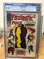 Fantastic Four #67 (1967, Marvel) CGC 9.0 - 1st Warlock Cameo & Origin