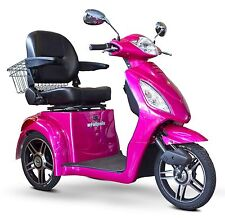 Magenta Pink EWheels EW-36 FAST 3 Wheel Mobility Scooter, Electric Batteries
