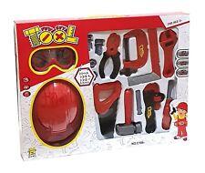 Kinder Spielzeug Werkzeug Set Werkbank Zubehör wie Hammer Zange Säge Bauhelm