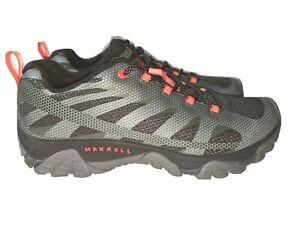 NEW- MERRELL MOAB 2 EDGE Hiking/ Trail Shoes Men's 10 M Gray / Orange MSRP $149