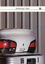 Prospectus pontiac ssei D 1992 car brochure autoprospekt auto voitures Amérique us car