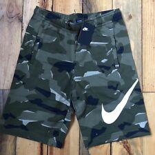 05a689de9cd NWT New Nike Fleece Camo Shorts Men s S Small Camouflage AQ0602-325 Cotton  Blend