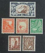 nystamps British New Zealand Stamp # 185//190 Mint OG H $38   L23x3108