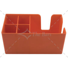 Bar caddy porta tovaglioli cannuccie bar arancio-  attrezzature barman