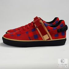 NEW AUTHENTIC LOUIS VUITTON DAMIER FRESHMAN Masai Red Blue Shoes Sneaker 41 8