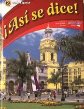 ¡Así Se Dice!, Level 2 by Conrad J. Schmitt (2011, Hardcover) Glencoe Spanish