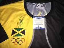 Usain Bolt Signed Rio Olympics Jersey Gold Medal 9x Gold 🇯🇲 Jamaica Beckett#18