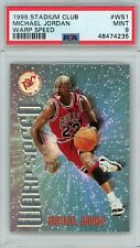 Michael Jordan 1995 Topps Stadium Club Warp Speed WS1 Mint PSA 9 Basketball Card