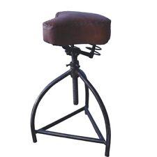 Refroidisseur Tabouret Tournant Vieux Siège vélo à ressort CUIR ANTIQUE CHAISE
