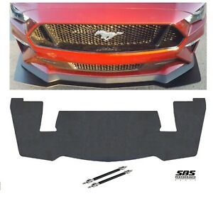 GT350R style FRONT SPLITTER+ 2 RODS for 2018-2020 MUSTANG GT Performance Pack