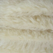 "1/4 yd 690S/C White Intercal 2+"" Medium Density German Mohair Teddy Bear Fabric"