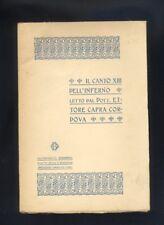 Il Canto XIII dell'Inferno, E.Capra Cordova, 1907 divina commedia Dante  R