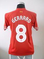 Steven GERRARD #8 Liverpool Home Football Shirt Jersey 2013/14 (M)