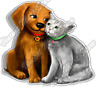 """Pets Love Dog Cat Pet Friend Cute Paw Car Bumper Vinyl Sticker Decal 4.6"""""""