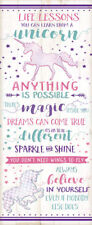 "Inspirational ""Life Lessons You Can Learn From A Unicorn""; One 8x18in Poster"