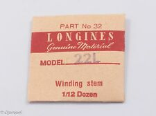 Longines Genuine Material Stem (Long) Part 32 for Longines Cal. 22L