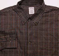 BROOKS BROTHERS Long Sleeve Button Shirt NON IRON Madison Blue Red Plaid Large L