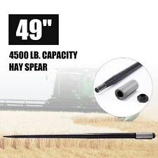 "49"" Hay Bale Spear 2.25T Capacity Straw Bale Attachment with Sleeve Nut Farm ota"