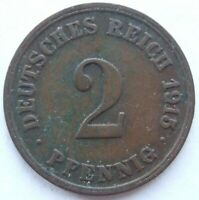 Top! 2 Pfennig 1915 E IN Very fine