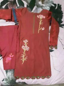 A Pakistani Designer Sana Safinaz Winter Shalwar/kameez/trouser Suit In Size...