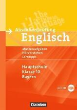Abschlussprüfung Englisch - Hauptschule Bayern: 10. Jahrgangsstufe - Musterübung