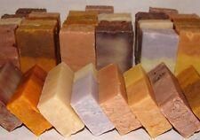 Handmade Soap Bulk Lot (EARTHY) 9 Sampler Half Bars Natural Vegan w/ Shea Butter