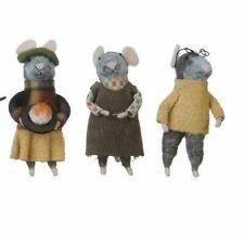 Abundant Blessings Mice Set of 3 Wool Mice Very Cute New